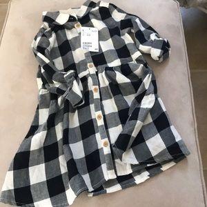 Girls button down dress